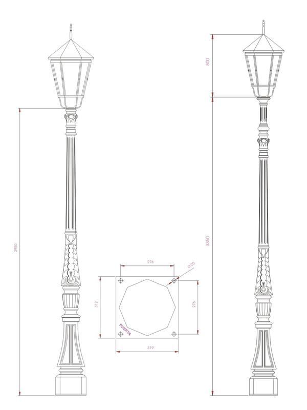 Columna Albia esquema